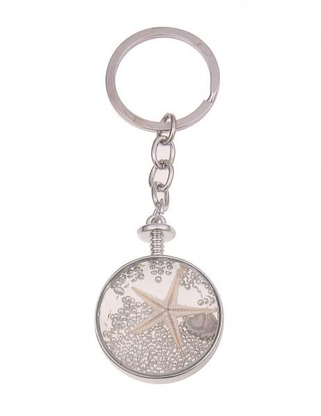 Leslii Damen Schlüsselanhänger Unterwasserwelt aus Metalllegierung mit Glas Länge 10cm in Silber Bei
