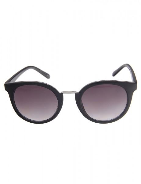 Leslii Sonnenbrille Damen Classic-Look schwarze Designerbrille Sunglasses in Schwarz Kunststoff