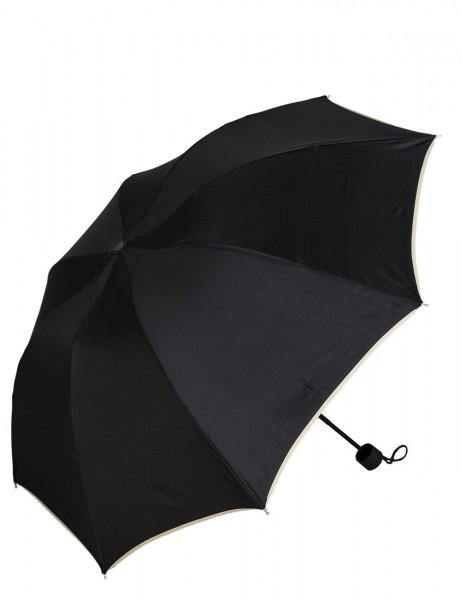 -50% SALE Leslii Regen-Schirm Wellen-Rand Schwarz | Damen-Schirm Mode-Accessoire | Ø 97cm