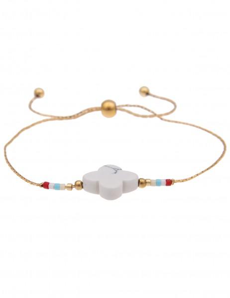 -50% SALE Leslii 4Teen Damenarmband Naturstein aus Metalllegierung Länge individuell verstellbar in