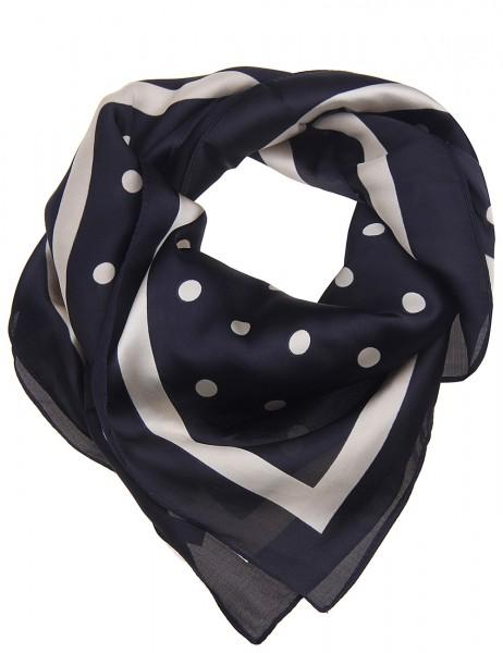 Leslii Damen Schal Halstuch Punkte Dots aus Polyester Größe 70cm x 70cm in Schwarz Beige 900317823