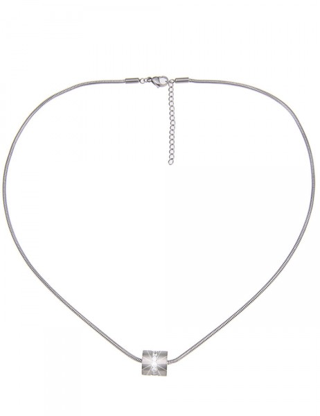 -50% Leslii Damen-Kette Premium Quality Glitzer-Steine Edelstahl 51cm + Verlängerung 210115728