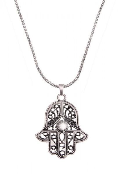 LAST CHANCE! Leslii Lange Halskette Fatimas Hand in Silber