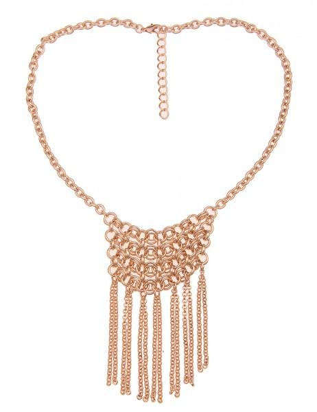 Leslii Damen-Kette Statement-Kette Tassel Ketten-Netz kurze Halskette goldene Modeschmuck-Kette Glie
