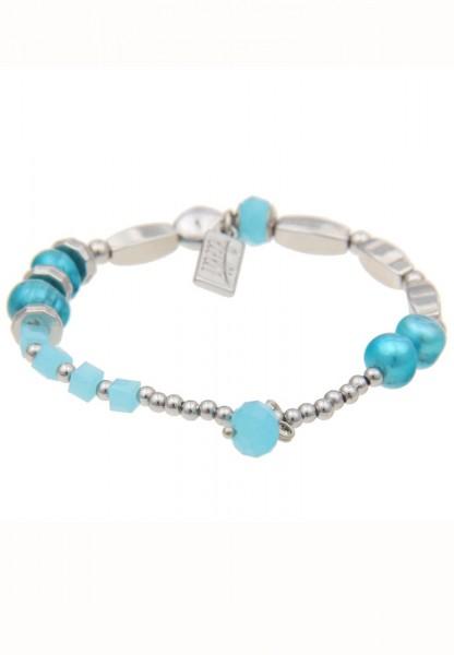 - 50% SALE Armband Mix & Match Perle Blau