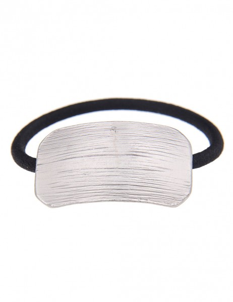 -50% Leslii Haargummi Zopfband Spangen-Optik Silber | Damen Mode-Accessoire | Haar-Schmuck