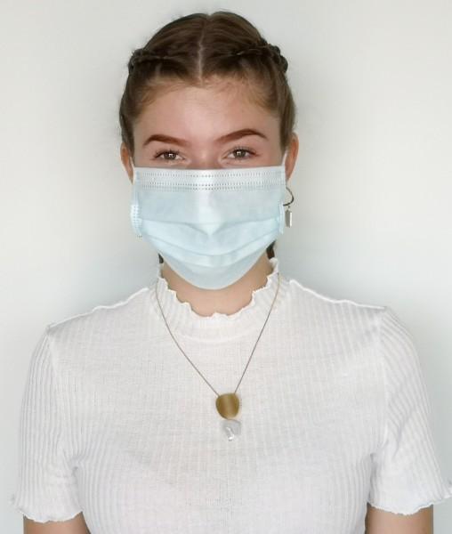 Leslii Community-Masken 50er Set Einweg Mund-Nasen Bedeckung