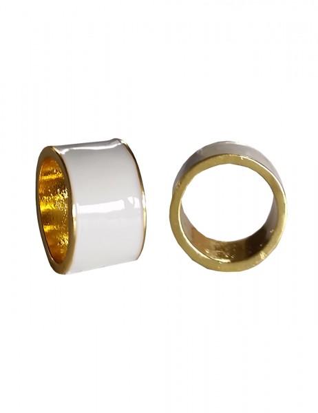 -50% SALE Leslii Damenring Statement Look aus Metalllegierung Größe 17mm, 18mm oder 19mm Gold Weiß