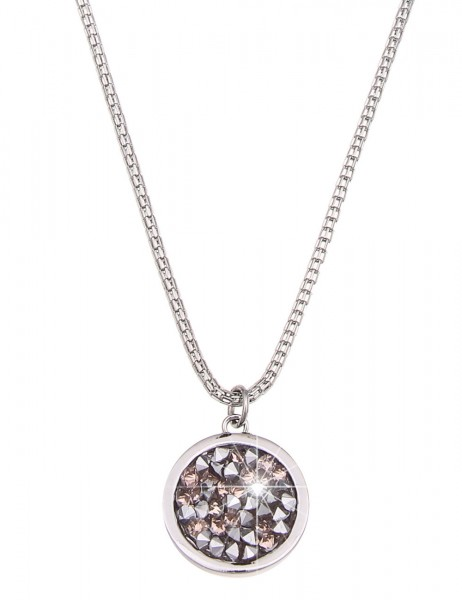 Leslii Damen-Kette Twinkle Silber Rosé Metalllegierung Strass 91cm + Verlängerung 220313617