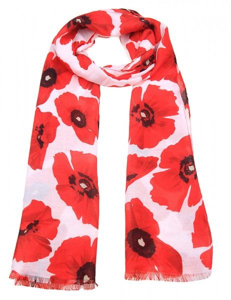 Leslii Damen-Schal Blumen-Look 100% Polyester 175cm x 52cm 900116038
