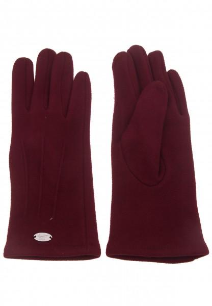 Leslii Damen-Handschuhe Fashion Nähte Naht-Muster rote Winter-Handschuhe Teddy-Fell weiche Handschuh
