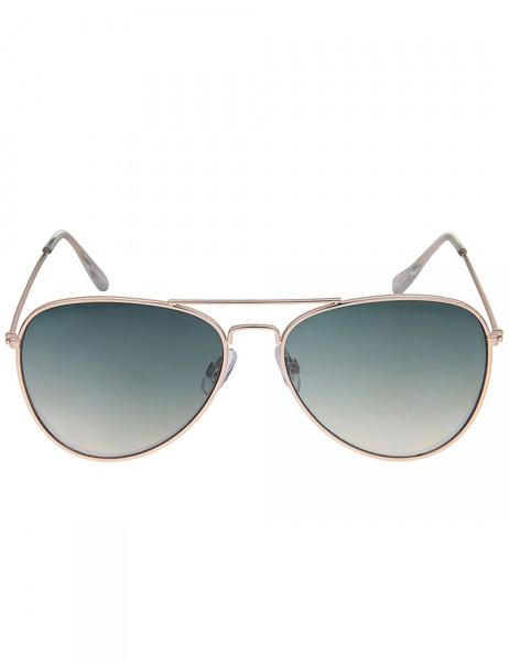 Leslii Sonnenbrille Damen Piloten-Brille Doppelsteg goldene Designerbrille Sunglasses in Gold Metall