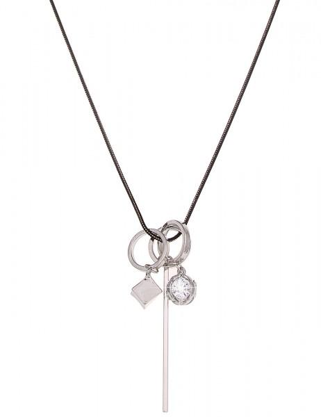 Leslii Halskette Style Silber Gold | lange Damen-Kette Mode-Schmuck | 84cm + Verlängerung