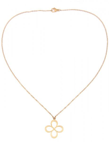 -50% SALE Leslii 4teen Damenkette Blüte aus Metalllegierung Länge 39cm in Gold