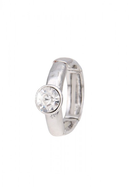 Ring Diamond Style Silber Weiß