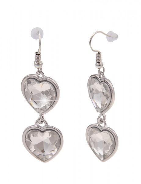 Leslii Damen-Ohrringe Ohrhänger Rosi Tracht Herz-Ohrringe Dirndl Oktoberfest silberne Modeschmuck-Oh
