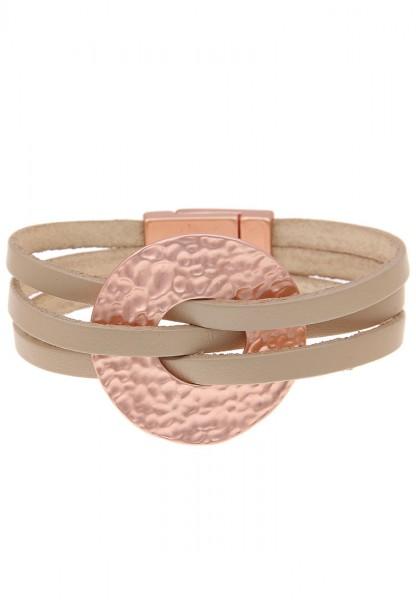 Armband Antik Platte beige rosé