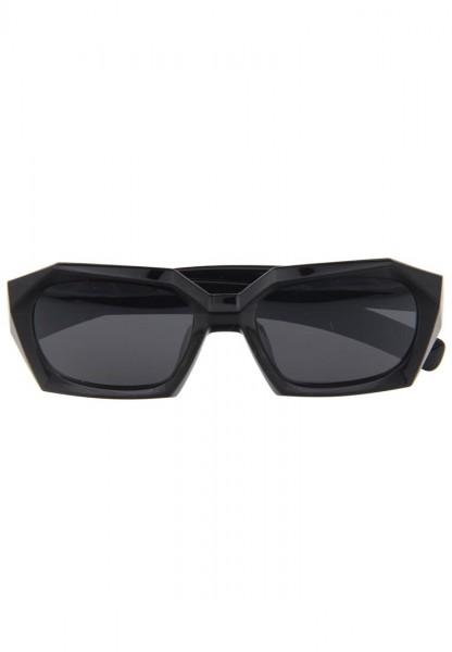-50% SALE Leslii Damen-Sonnenbrille Angular Matt Schwarz Kunststoff Ø Glas 6,5cm 310210118