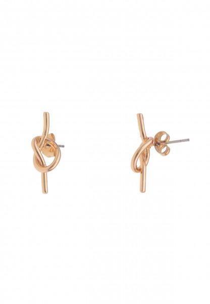 Leslii Damen-Ohrringe Ohrstecker Hochglanz Knoten-Ohrringe goldene Modeschmuck-Ohrringe Ohrschmuck K