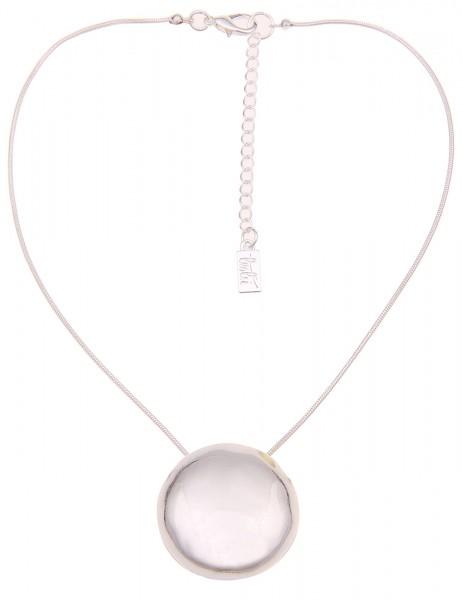 Leslii Damen-Kette Classic Round Silber Metalllegierung 42cm + Verlängerung 210116941