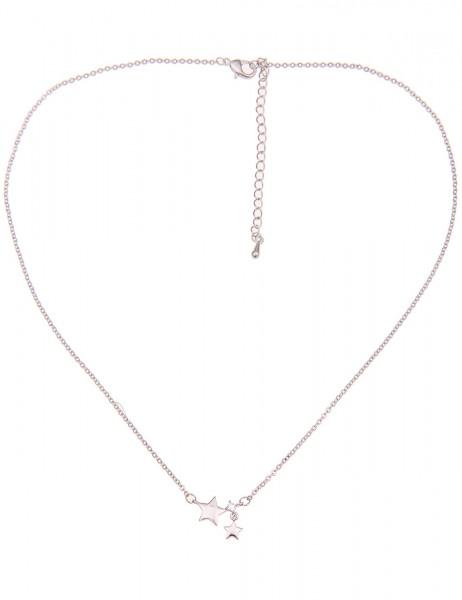 Leslii Damen-Kette Mini Sterne Metalllegierung Hochglanz Strass 40cm + Verlängerung 210116818