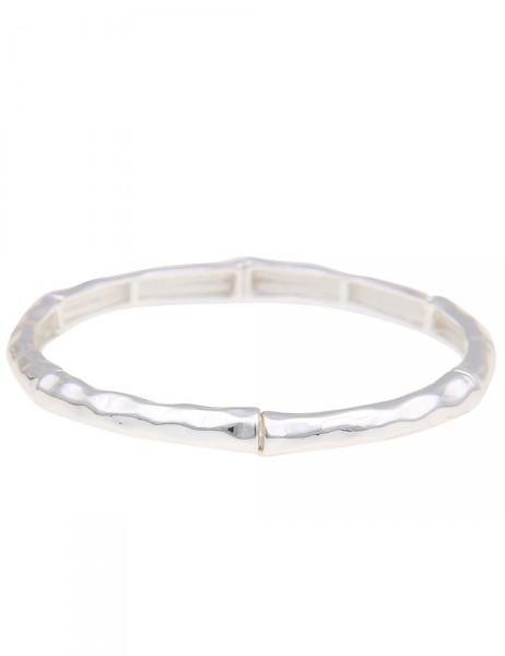 Leslii Damen-Armband Glanz-Look Metalllegierung 18cm dehnbar 260115653