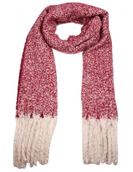 -50% SALE Leslii Damen Schal XXL Muster aus Polyester Größe 190cm x 51cm in Rot Beige 900217158