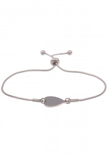 Leslii Damen-Armband Classic Heart Herz-Armband Herz-Schmuck silbernes Modeschmuck-Armband verstellb