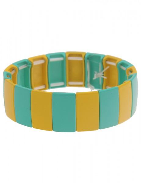 Leslii Damen-Armband XXL-Armreif Streifen-Muster Statement-Armband breiter Armreif buntes Modeschmuc