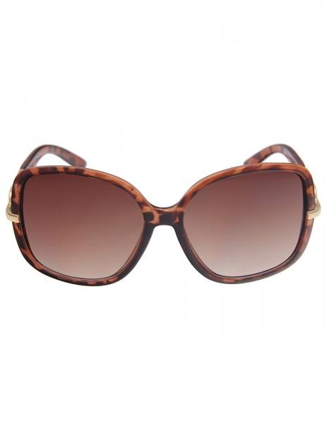 Leslii Sonnenbrille Damen Horn-Look Designerbrille Statement klassisch Sunglasses Glieder-Sonnenbril