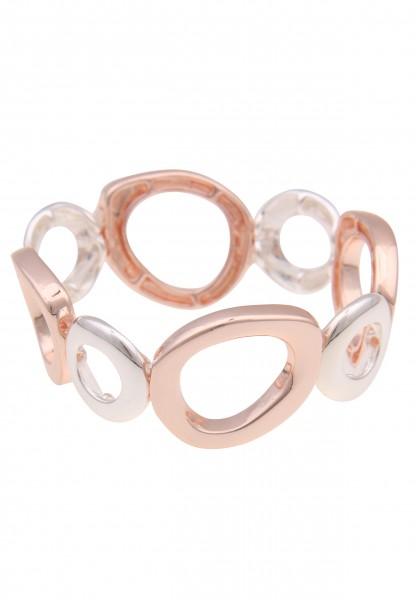 Leslii Damen-Armband Bicolor Armreif Glieder-Armband zweifarbiges Armband Modeschmuck-Armband Armsch
