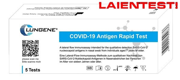 5er Pack Clungene Laientest Covid-19
