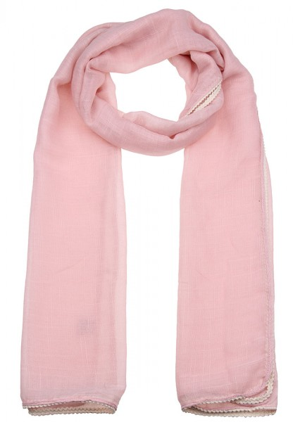 -70% SALE Leslii Uni Geflochten Rosa Beige | Trendiger Schal | Damen Mode-Accessoire | 180cm x 54cm