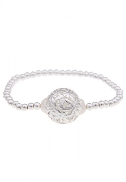 LAST CHANCE Leslii Libellen Kugel Silber | Trendiges Armband | Damen Mode-Schmuck | 19cm flexibel