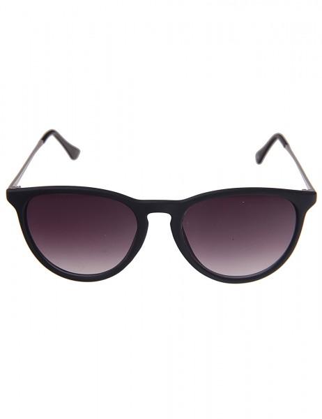 Leslii Sonnenbrille Damen Classic-Style Designer-Brille schwarze Sonnenbrille Matt Schwarz Silber
