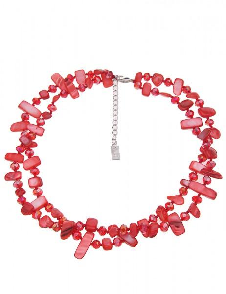 kurze Halskette - 04/rot