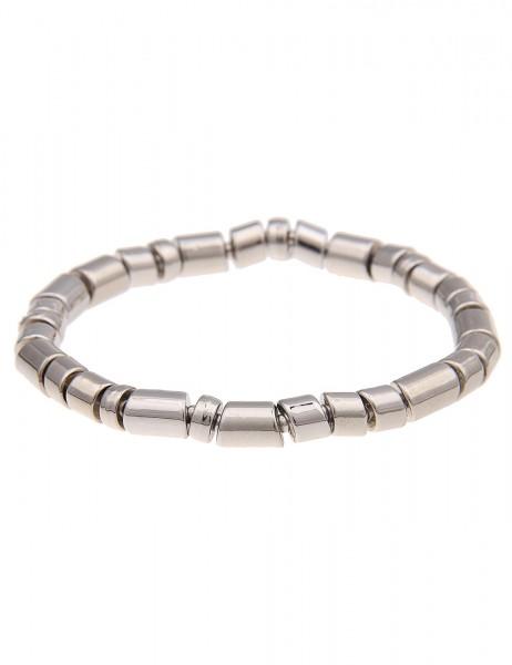 Leslii Armband Different Silber | Damen-Armband Mode-Schmuck | Länge: 19cm flexibel