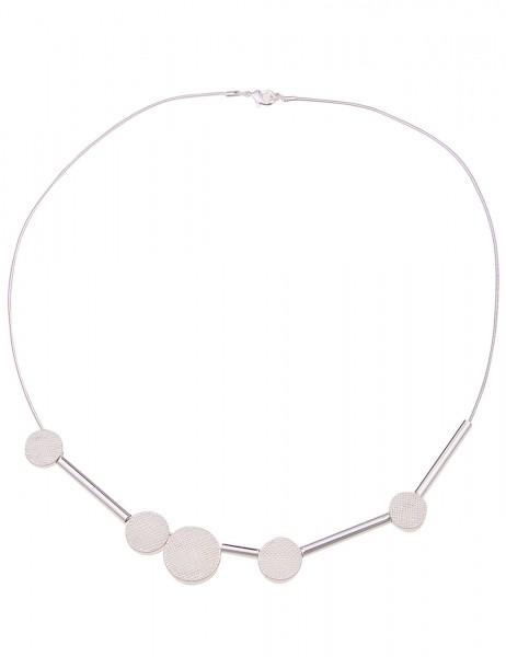 kurze Halskette Frauke - 01/silber