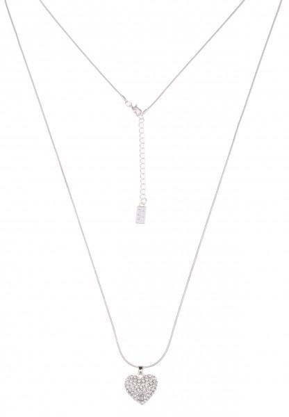 Leslii Perfect Heart Silber | Trendige lange Kette | Damen Mode-Schmuck | 90cm + Verlängerung
