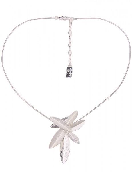 Leslii Damenkette Nina aus Metalllegierung Länge 44cm in Silber Matt Hochglanz