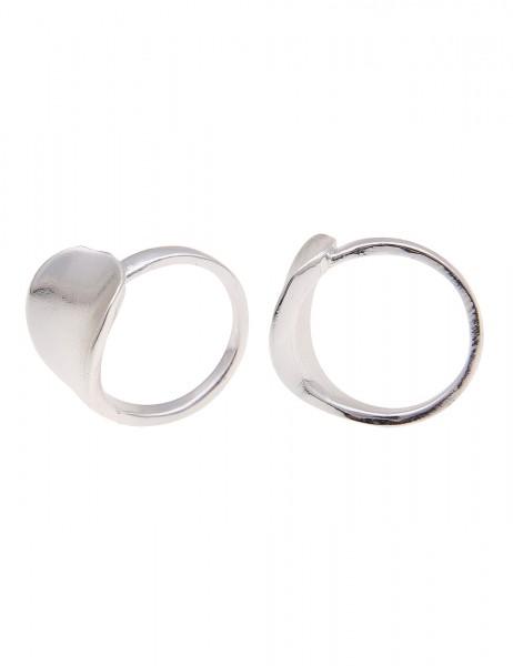 Leslii Damen-Ring Glanz Look Silber Metalllegierung Hochglanz Größe 17mm, 18mm oder 19mm 250116760