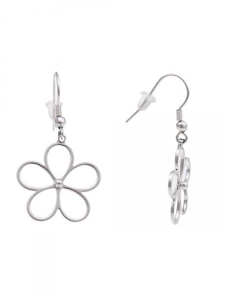 -50% SALE Leslii Damen-Ohrringe Ohrhänger Blüten-Glanz Metalllegierung 4cm 230115858