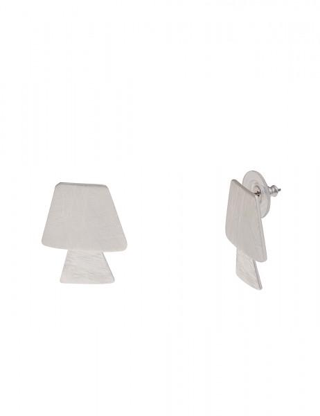 Leslii Damenohrringe Ohrstecker Silvia aus Metalllegierung Länge 2,4cm in Silber Matt