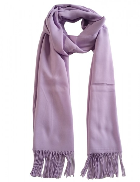 -50% SALE Leslii Damen-Schal Classic Uni Flieder Polyester & Viskose 186cm x 80cm 902516700