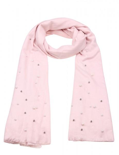 -50% SALE Leslii Damen-Schal Perlen Schimmer 100% Viskose 195cm x 62cm Rosa Weiß 900117141