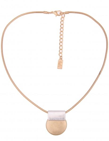 Leslii Damen-Kette Classic Bicolor Silber Gold Metalllegierung 44cm + Verlängerung 210116325