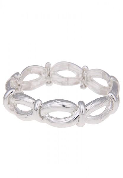 Armband Modern Swirl Silber