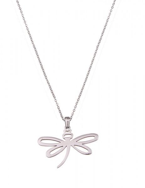 -70% SALE Leslii Halskette Libelle Silber   lange Damen-Kette Mode-Schmuck   85cm + Verlängerung