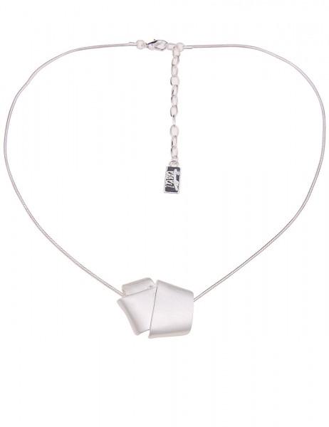 Leslii Damenkette Lagenlook aus Metalllegierung Länge 43cm in Silber Matt