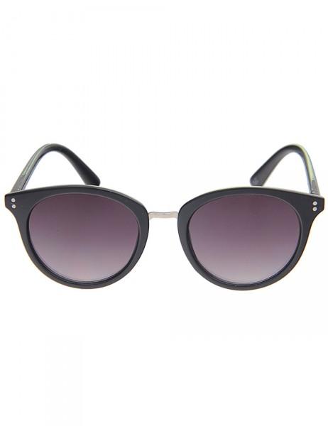 -50% SALE Leslii Sonnenbrille Damen Classic-Look schwarze Designer-Brille Sunglasses in Schwarz